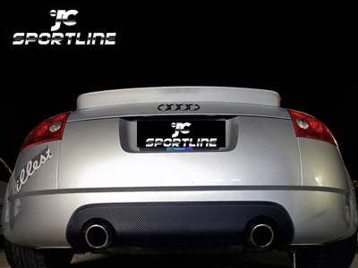 Carbon Fiber Rear Bumper Diffuser For Audi Tt Mk1 Type 8n Coupe Convertible 2004 2007