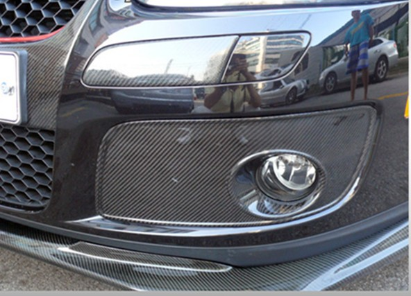 Vw Golf V 5 Mk5 Gti Carbon Fiber Fog Lamp Mask