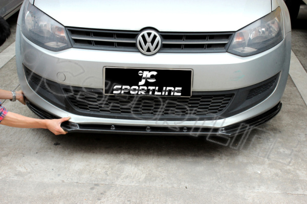 2011 Up Polo 6 R Style Carbon Fiber Front Lip Polo 6
