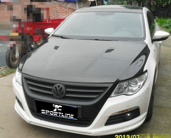 Facelift Style Carbon Fiber Front Bonnet For Vw Cc Fits