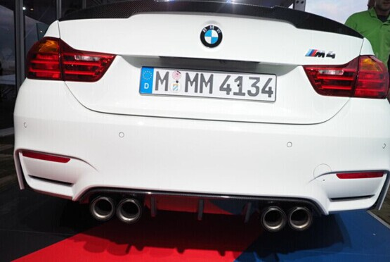 F32 F33 M Sport Carbon Fiber Rear Bumper Diffuser Spoiler 420i 428i 435i Fit For Bmw F32 F33 M
