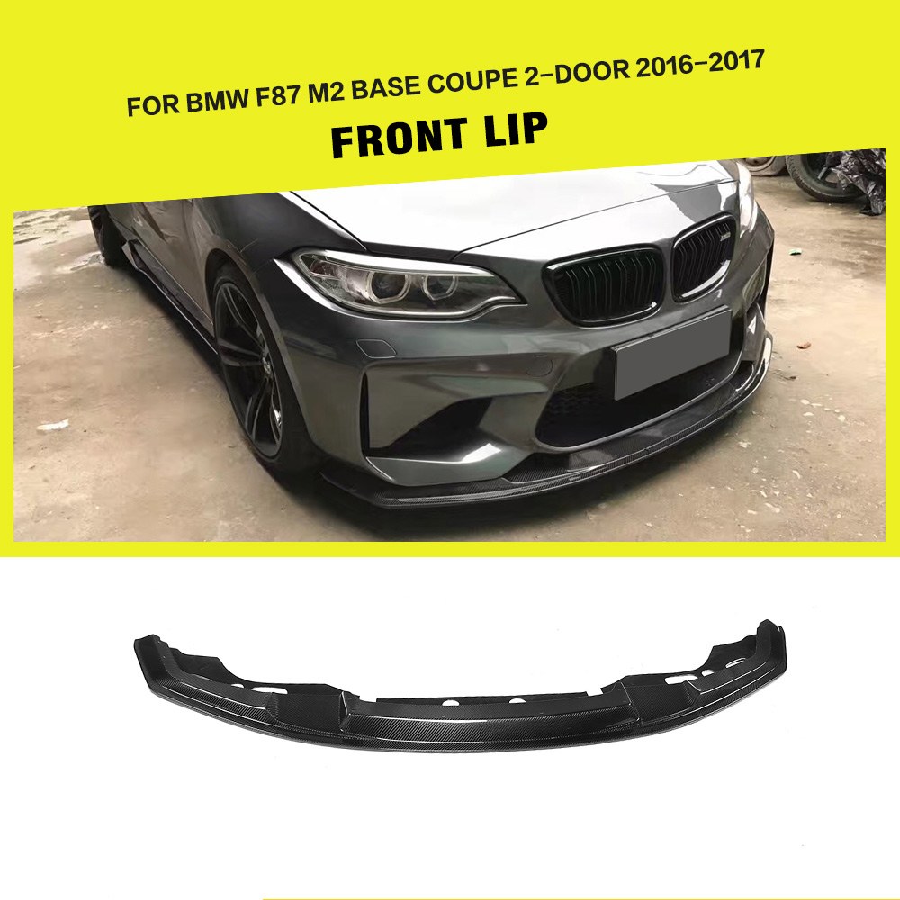 Carbon Fiber Front Lip Splitter For Bmw F87 M2 2016 2017