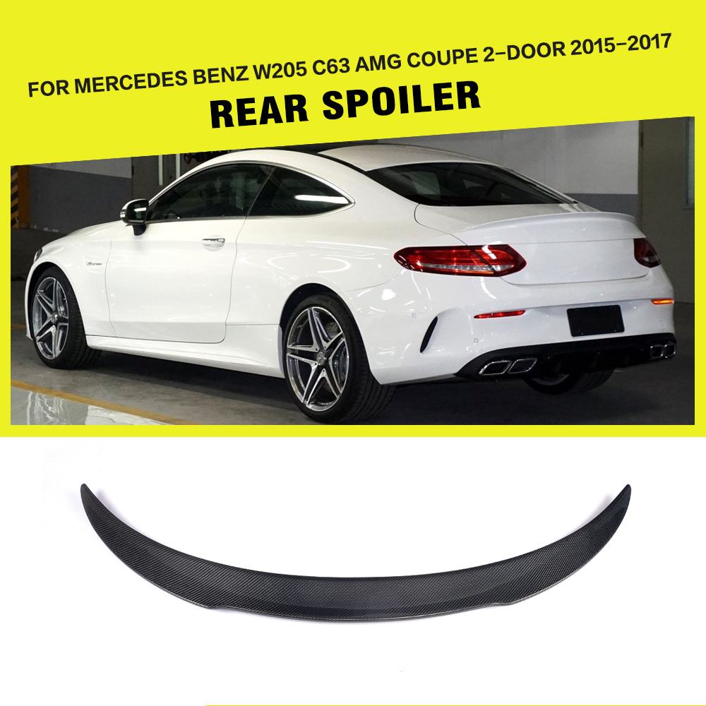 Fd Style Carbon Fiber Trunk Spoiler For Mercedes Benz W205 C63 Amg Coupe 2 Door 15 17
