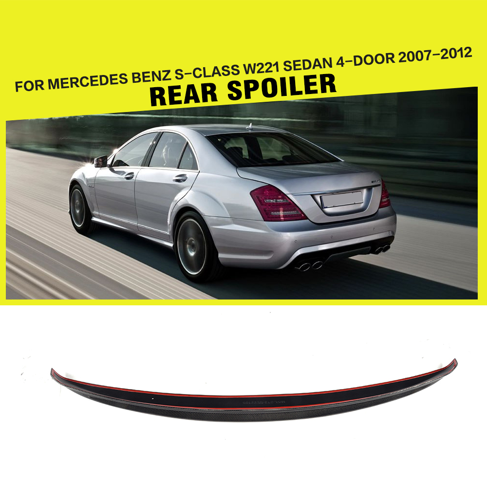 Carbon Fiber Rear Trunk Lid Spoiler For Mercedes Benz S
