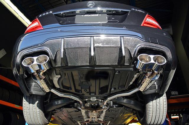 2012 Mercedes Benz W204 C63 Amg Bumper Rear Diffuser Tms Style
